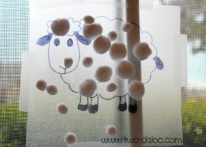 Farm theme activities - sticky sheep
