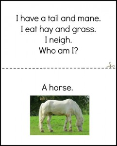 Farm theme activities - who am I animal book