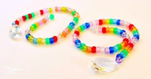 Gifts kids can make - bead and prism sun catcher
