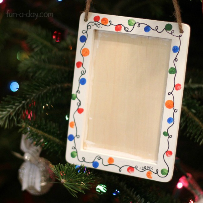 gifts kids can make fingerprint light frame