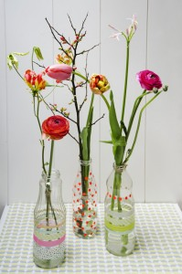 Gifts kids can make - flower bottles