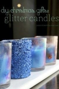 Gifts kids can make - glitter candles