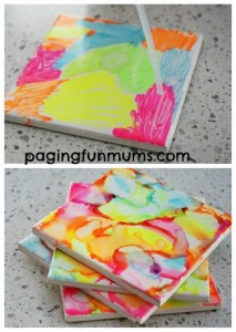 Gifts kids can make - homemade coasters