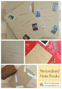 Gifts kids can make - homemade notebooks