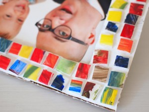 Gifts kids can make - mosaic picture frame