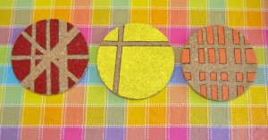 Gifts kids can make - painted trivets