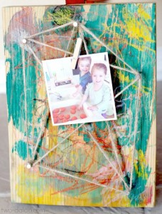 Gifts kids can make - photo display