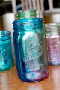 Gifts kids can make - tinted mason jars