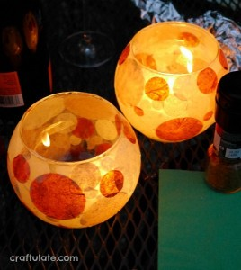 Gifts kids can make - tissue paper votive holders