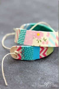 Gifts kids can make - washi tape bracelets