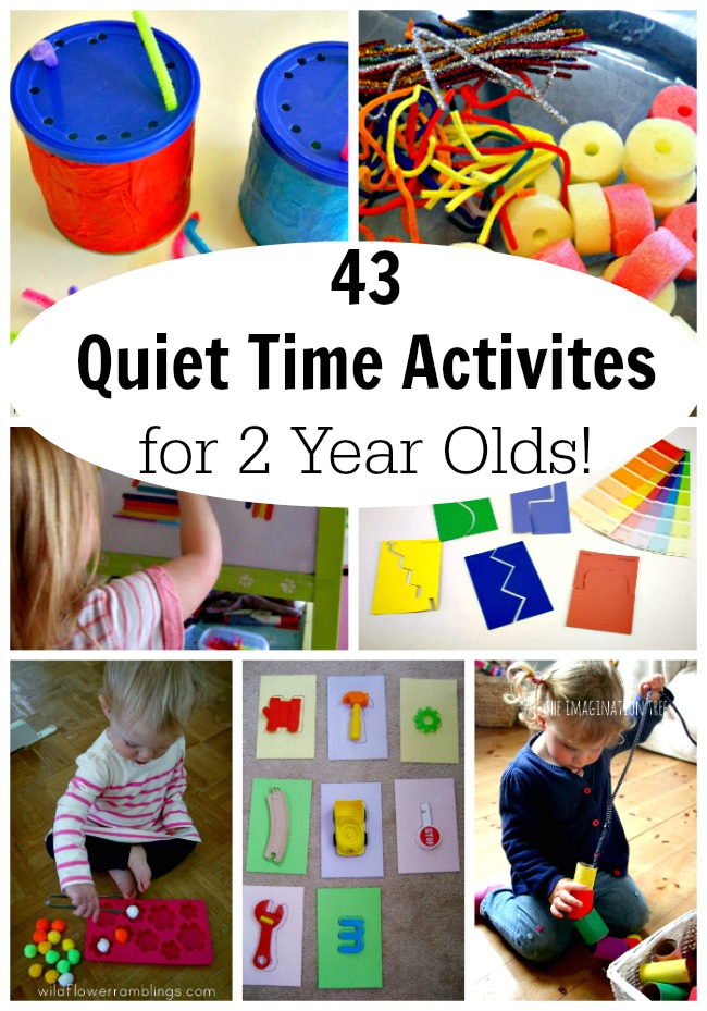 Simple and easy Quiet Time Activities for 2 year olds! These activities are perfect for toddlers and preschoolers. #toddleractivities #toddler #preschool #preschoolactivities #quiettime