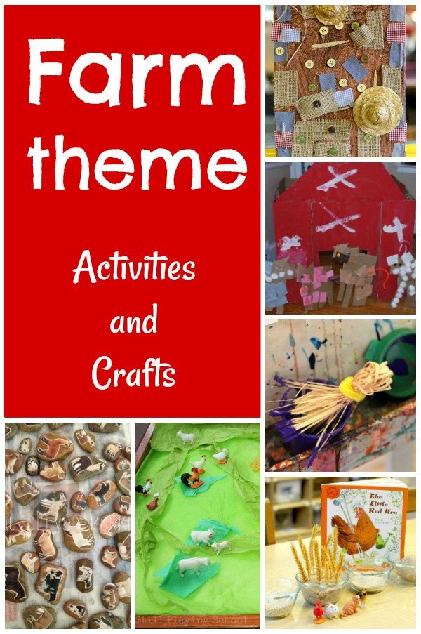 Farm crafts and activities for preschoolers! These are great farm theme ideas for at home or in the classroom. #farm #theme #preschool #learning #preschoolteacher #spring