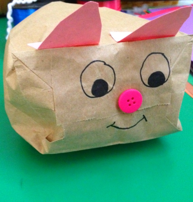 Adorable Jillian Jiggs Pigs from paper bags!