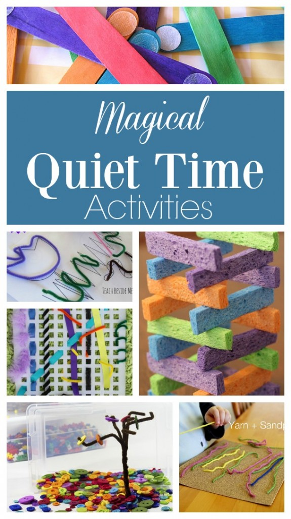 These quiet time activities for toddlers are MAGICAL! Simple and easy Quiet Time Activities for 2 year olds! These activities are perfect for toddlers and preschoolers. #toddleractivities #toddler #preschool #preschoolactivities #quiettime