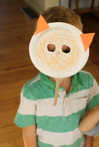 A Cute paper plate tiger craft!