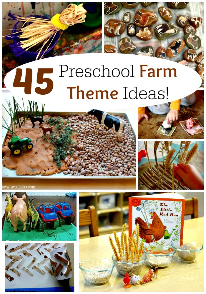 45 Awesome Preschool Farm Crafts and Activities! Perfect for school or home, kindergarten or toddlers too! #preschool #farm #crafts #spring #easy #toddler #kindergarten #school #home