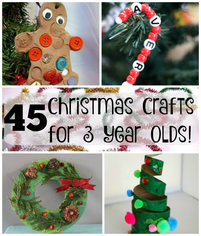 Easy and cute Christmas crafts for kids!! Perfect Christmas art for preschoolers #easy #preschool #Christmas #crafts #art #preschoolers