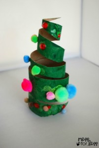 Christmas crafts for kids - cardboard roll tree