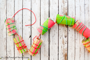 Christmas crafts for kids - fine motor garland