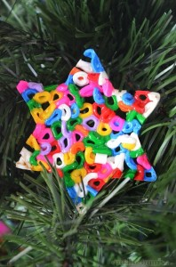 Christmas crafts for kids - fusible bead ornament