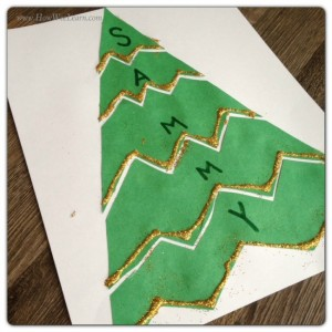 Christmas crafts for kids - name tree