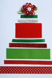Christmas crafts for kids - ribbon tree
