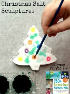 Christmas crafts for kids - salt sculptures