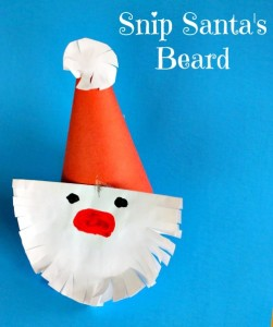 Christmas crafts for kids - snip Santa's beard