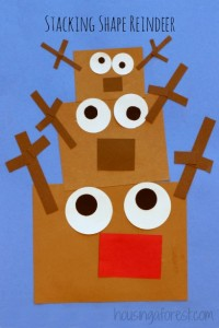 Christmas crafts for kids - stacking reindeer