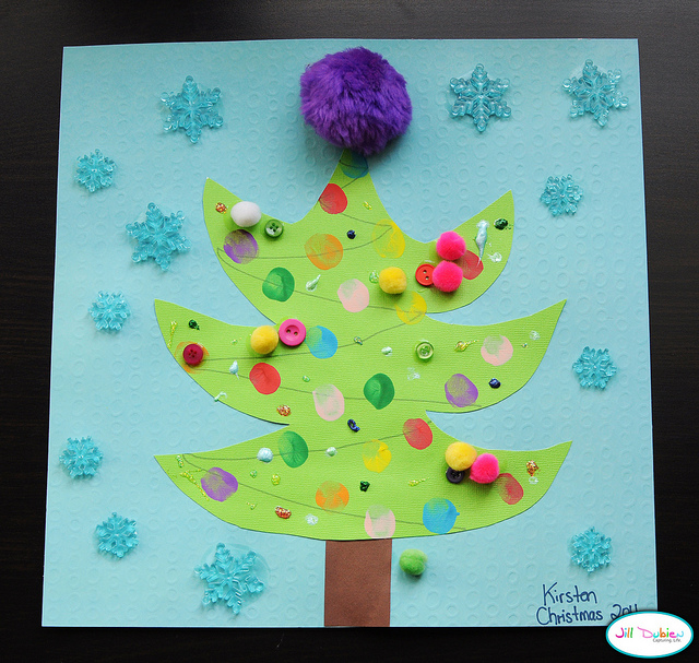 Christmas crafts for kids - scented wreath