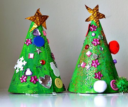 christmas crafts for kids tree hats - Childrens Christmas Tree Decorations