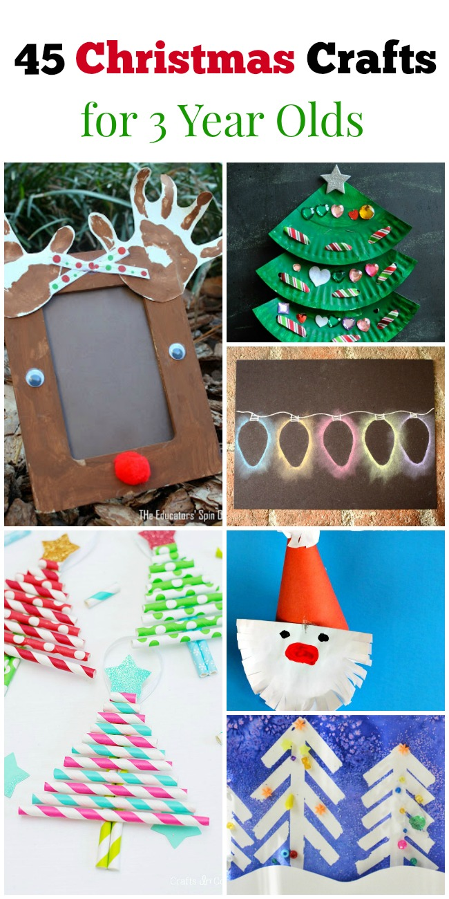 45 christmas crafts for 3 year olds how wee learn for Easy crafts for christmas presents