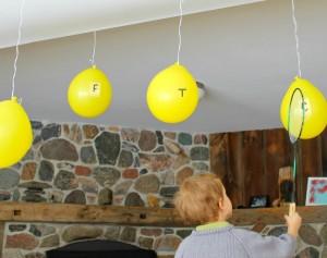 Preschool sports theme - baloon alphabet tennis