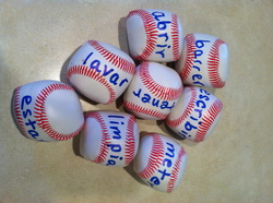 Preschool sports theme - baseball words and letters