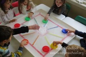 Preschool sports theme - color hockey