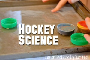 Preschool sports theme - hockey science