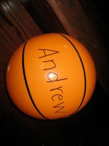 Preschool sports theme - name basketball