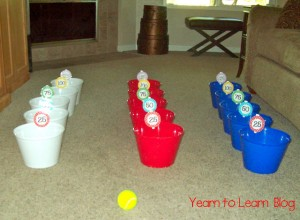 Preschool sports theme - number skeeball