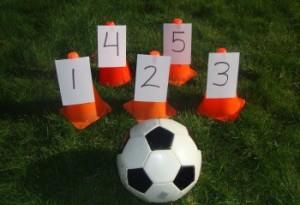 Preschool sports theme - number soccer