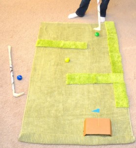 Preschool sports theme - rug golf