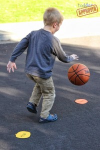 Preschool sports theme - sight word basketball game