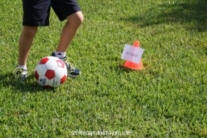 Preschool sports theme - sight word soccer activity
