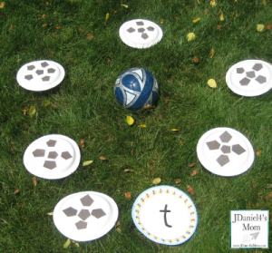 Preschool sports theme - soccer letter practice