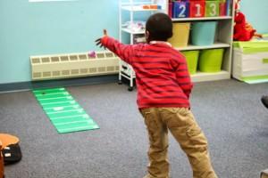 Preschool sports theme - who threw it the farthest