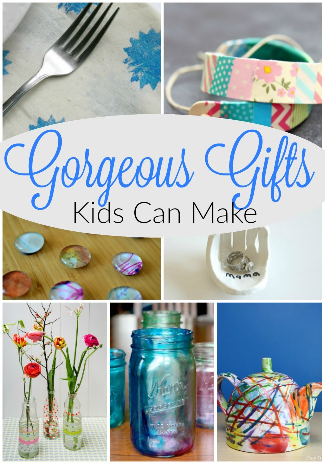 These are such sweet homemade gifts kids can make! Perfect handmade gifts for preschoolers and toddlers. #homemade #kidmade #kidsmadegifts #mothersday #christmas #preschool