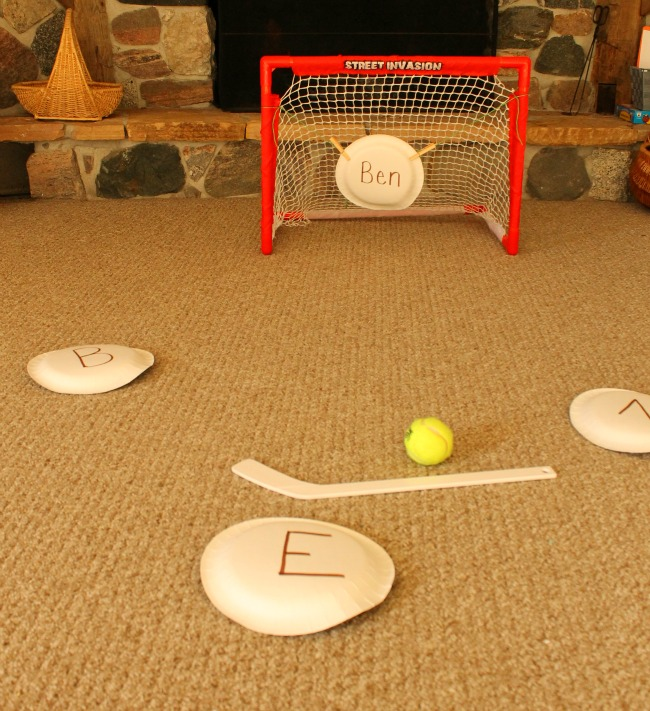 learning games with hockey for preschoolers!