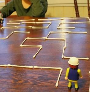 A Q-tip Maze