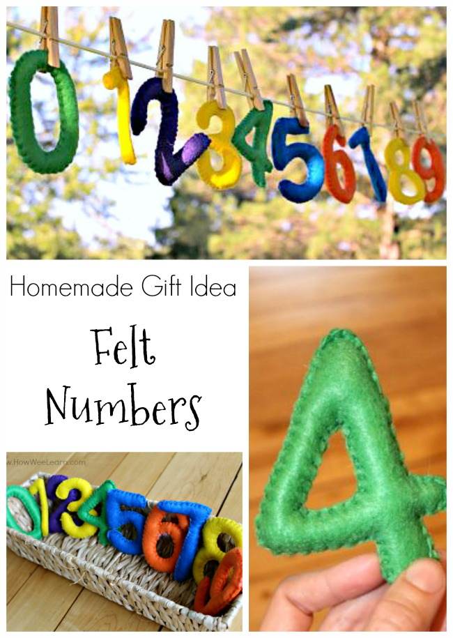 These felt numbers make such a great homemade gift