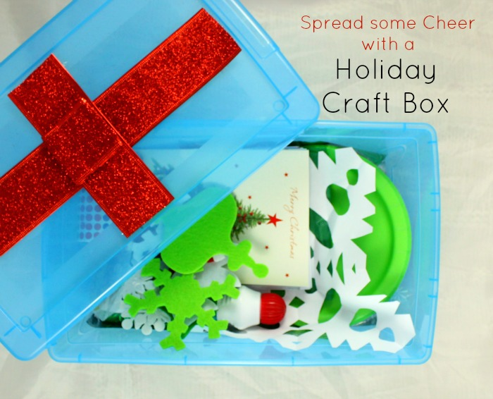 Spread some holiday cheer with this christmas craft box!