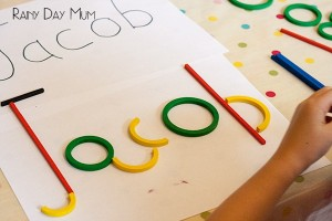 Name activities for preschoolers - build a name